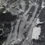 垂水ゴルフ倶楽部全景(北側から撮影の航空写真)(昭和39年)写真上部左側が倶楽部ハウス